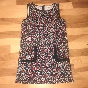 Geometric print pocketed dress!